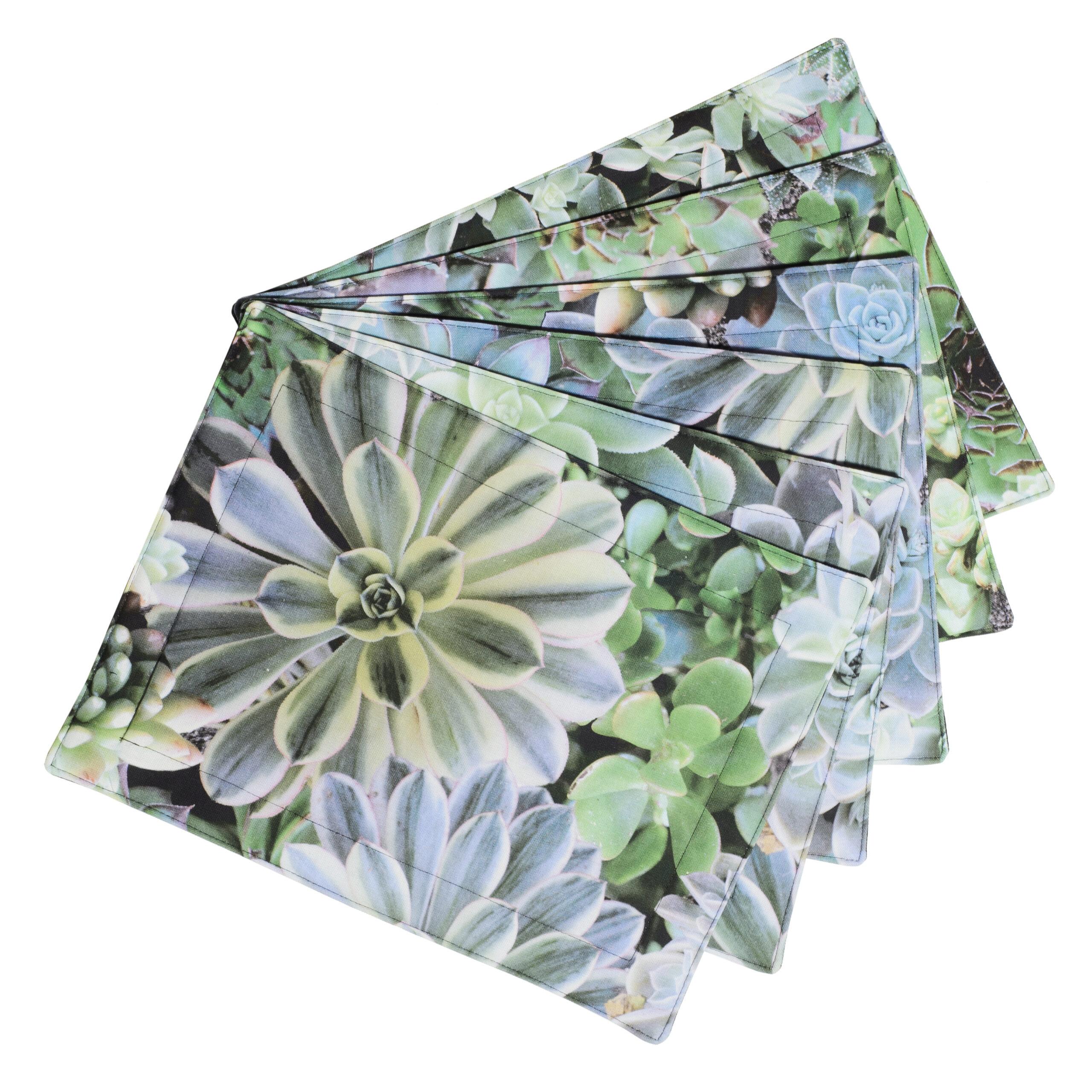 Placemats Succulent Blue Set of 6