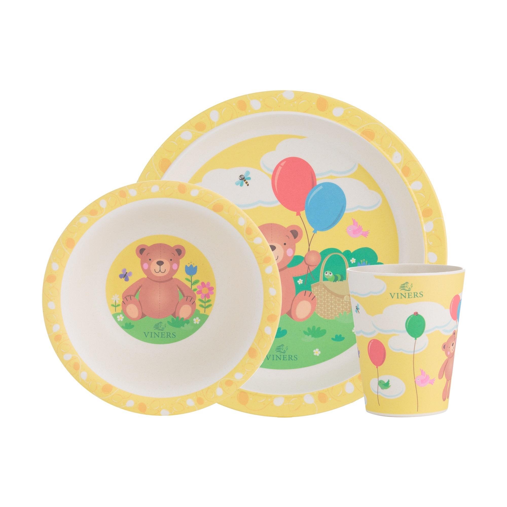 Viners Bertie Bamboo Fiber Kids Dinerware 3 Piece