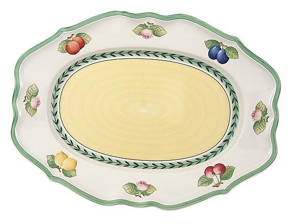 French Garden Fleurence Oval Platter 44cm