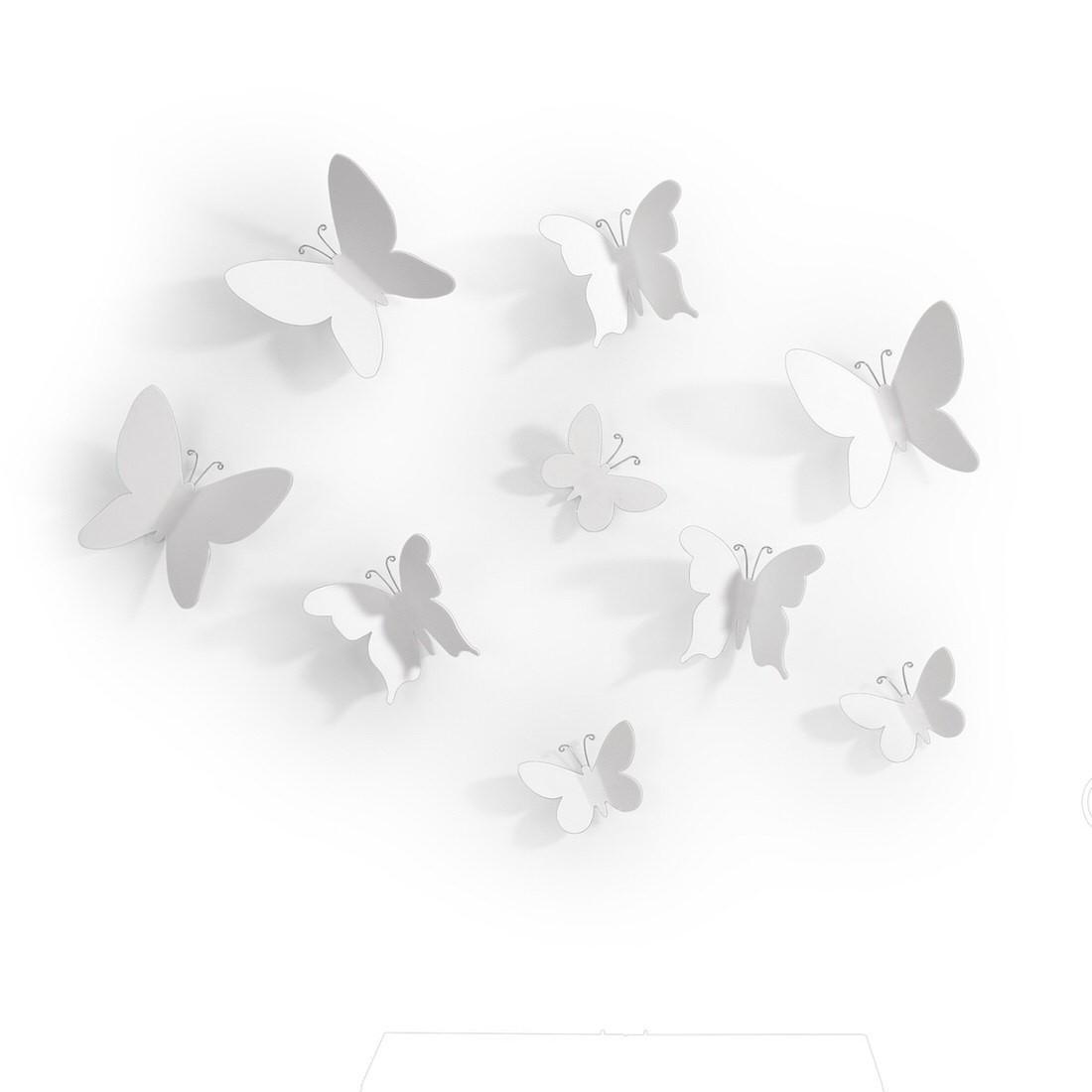 Umbra Mariposa Wall Decor Set of 9 White