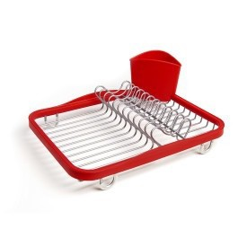 Umbra Sinkin Dish Rack Red & Nickel