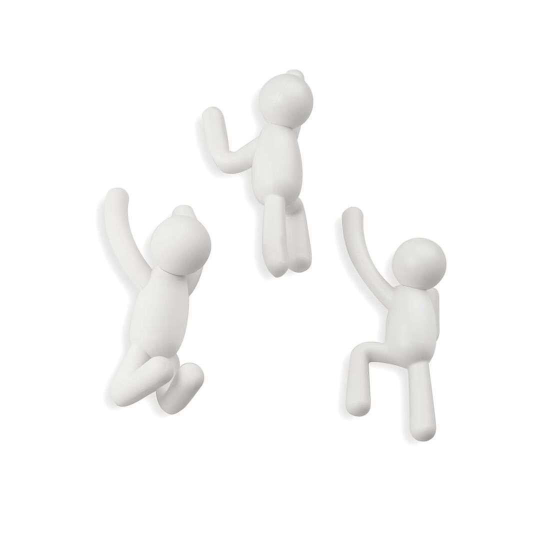 Umbra Buddy Hooks White Set of 3