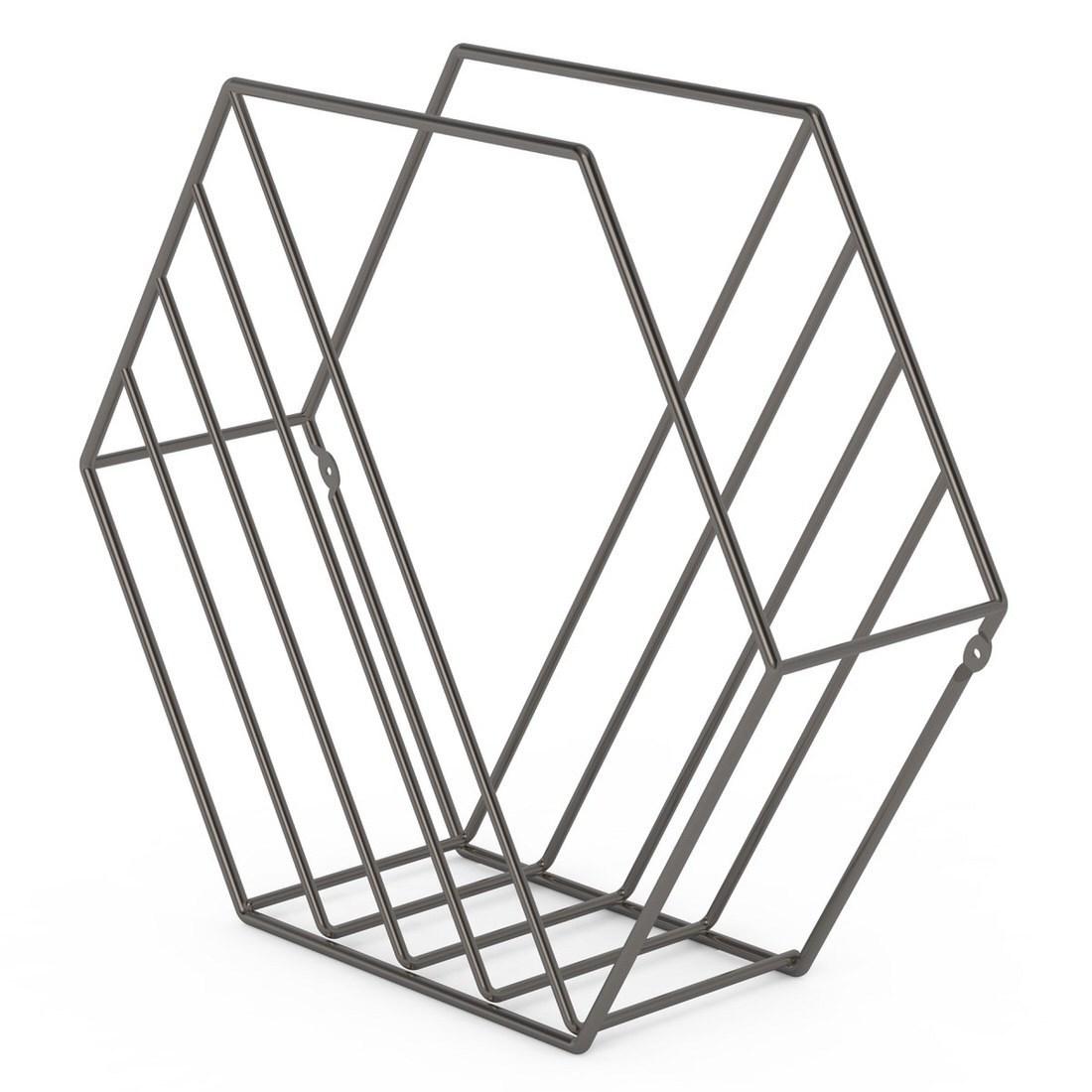 Umbra Zina Magazine Rack Titanium