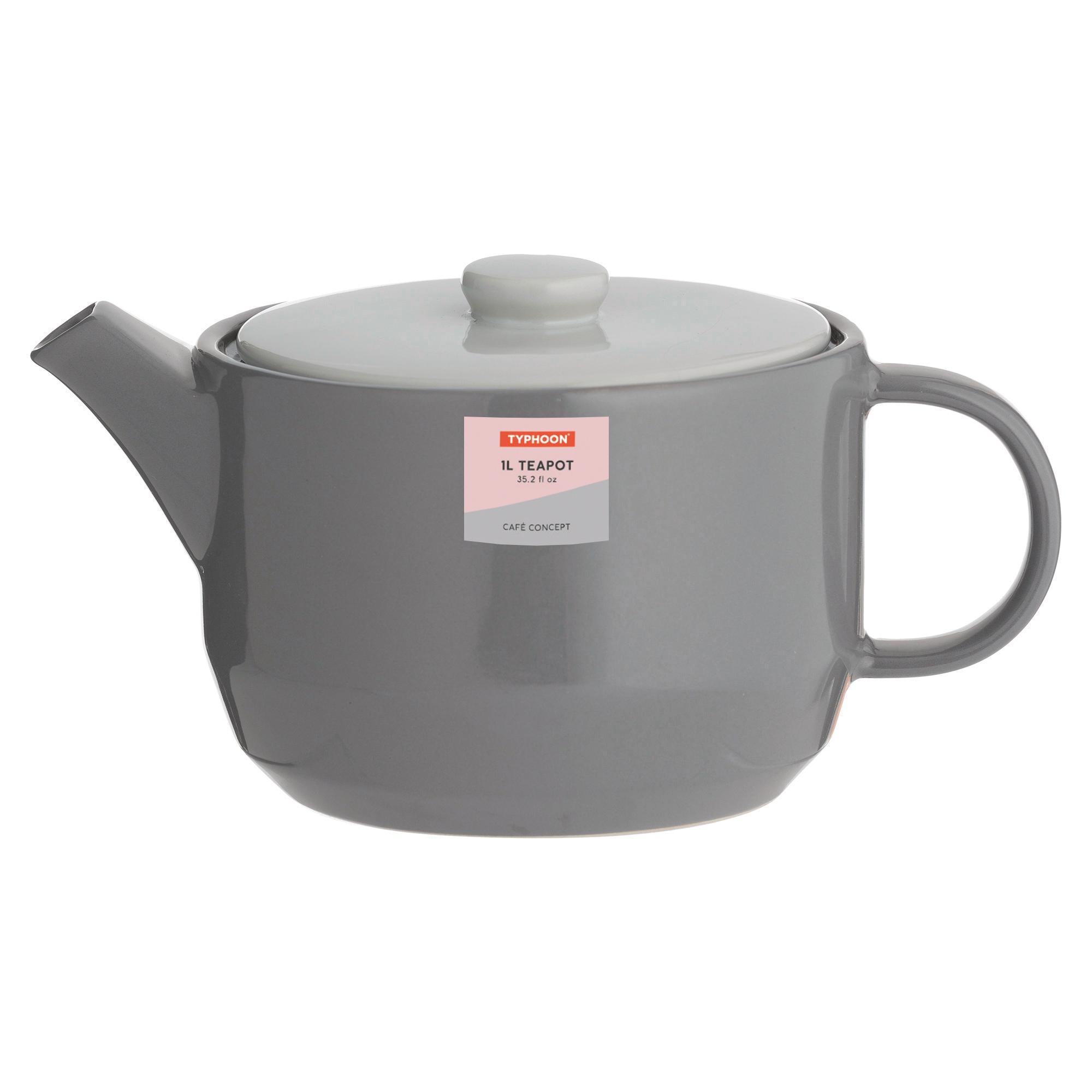 Typhoon Cafe Concept Teapot Dark Grey 1L