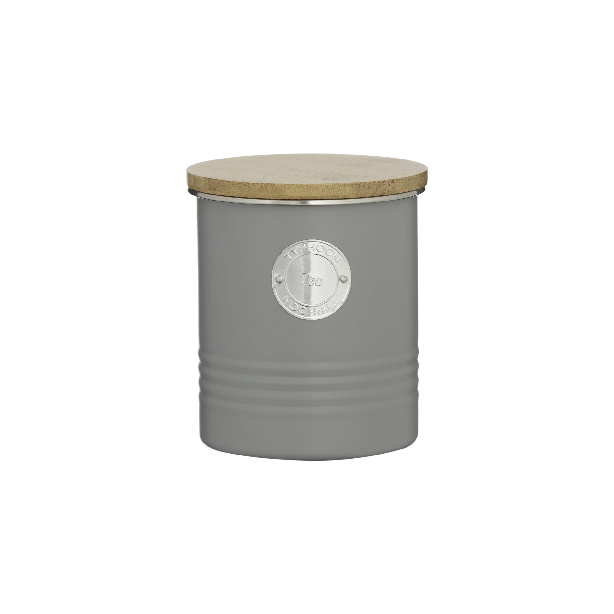 Typhoon Living Grey Tea Canister