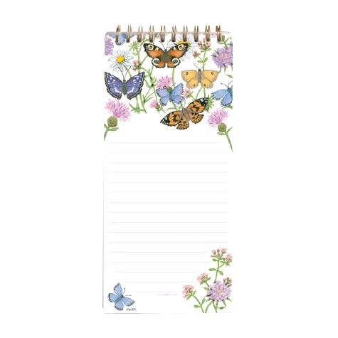 Magnetic Shopping List Pad Butterfly Garden