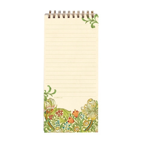 Magnetic Shopping List Pad Golden Lily
