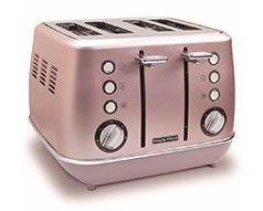 Morphy Richards Toaster 4 Slice Pink Evoke