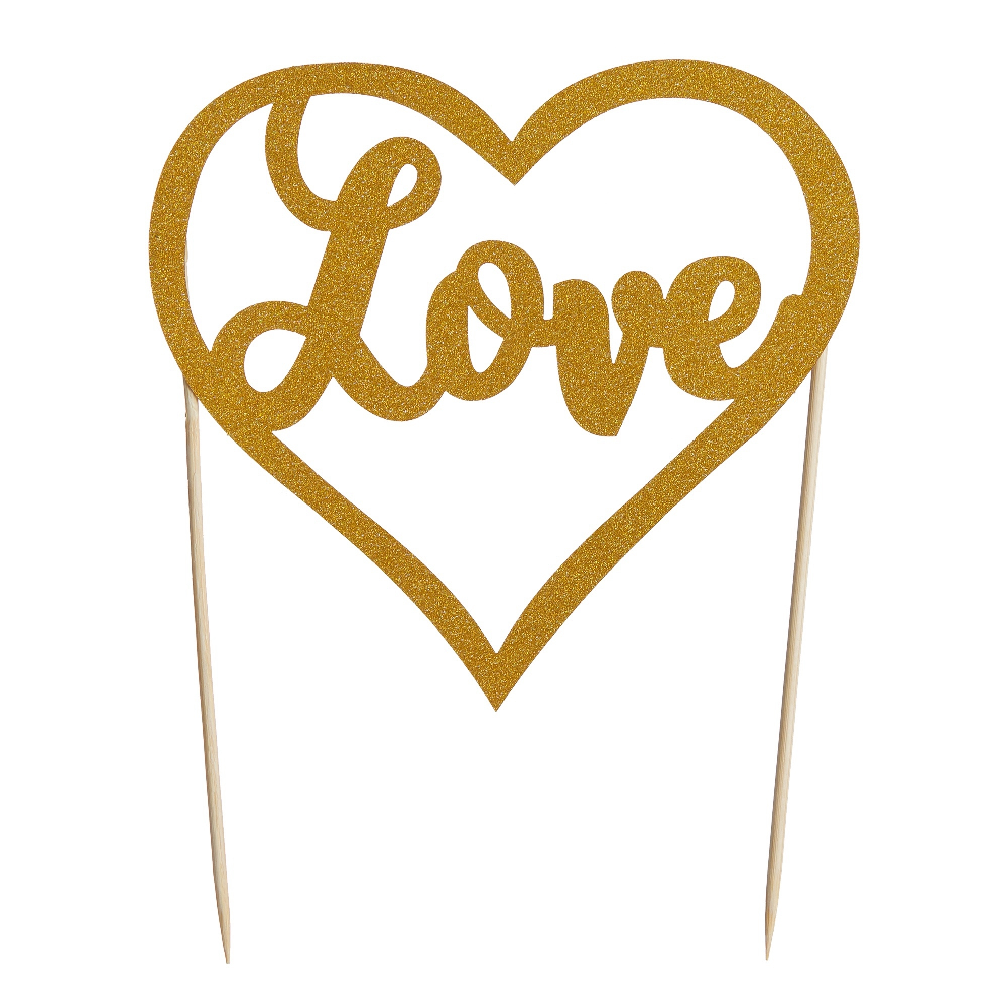 Mason Cash Cake Topper Love Gold Glitter