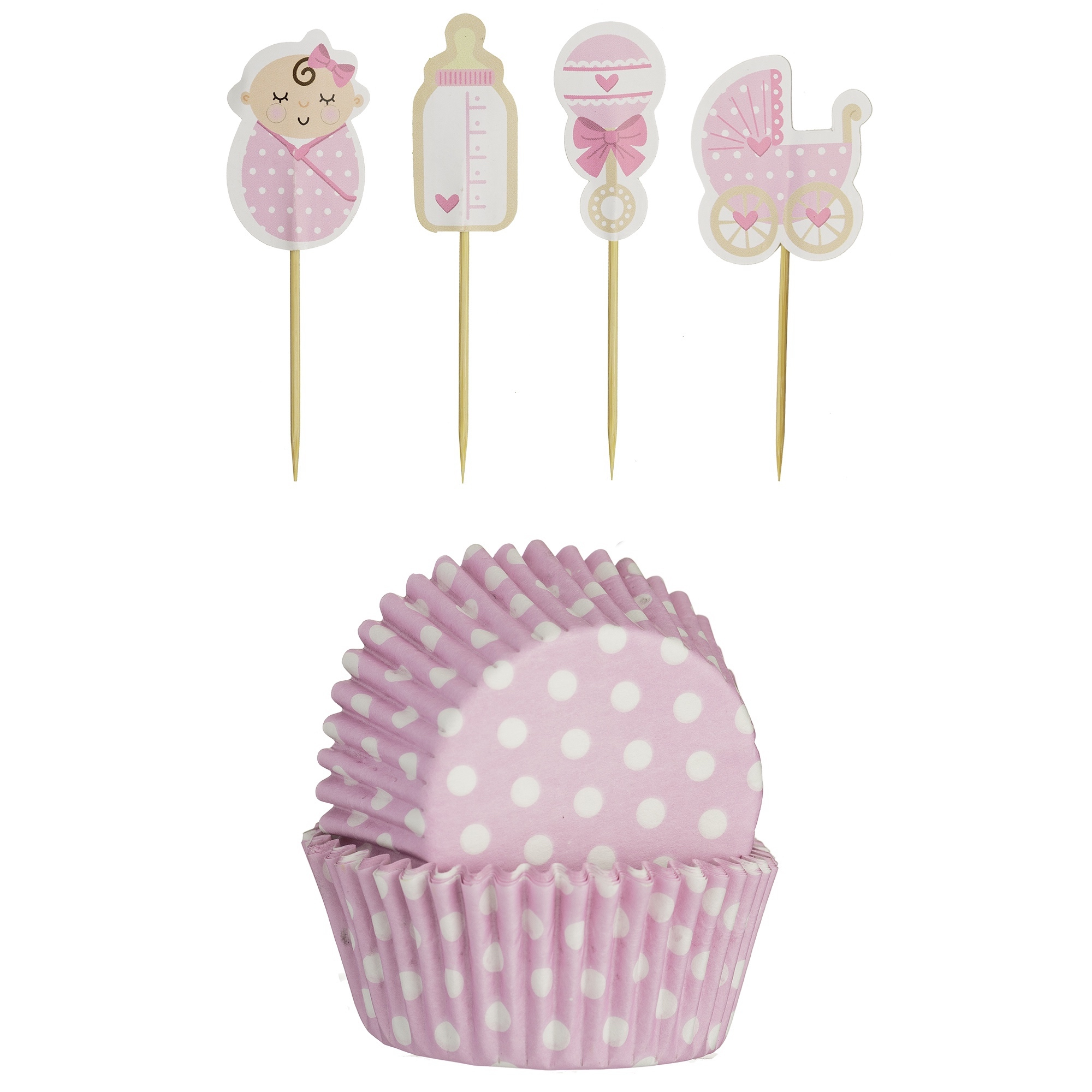 Mason Cash Cupcake Cases & Toppers Baby Girl