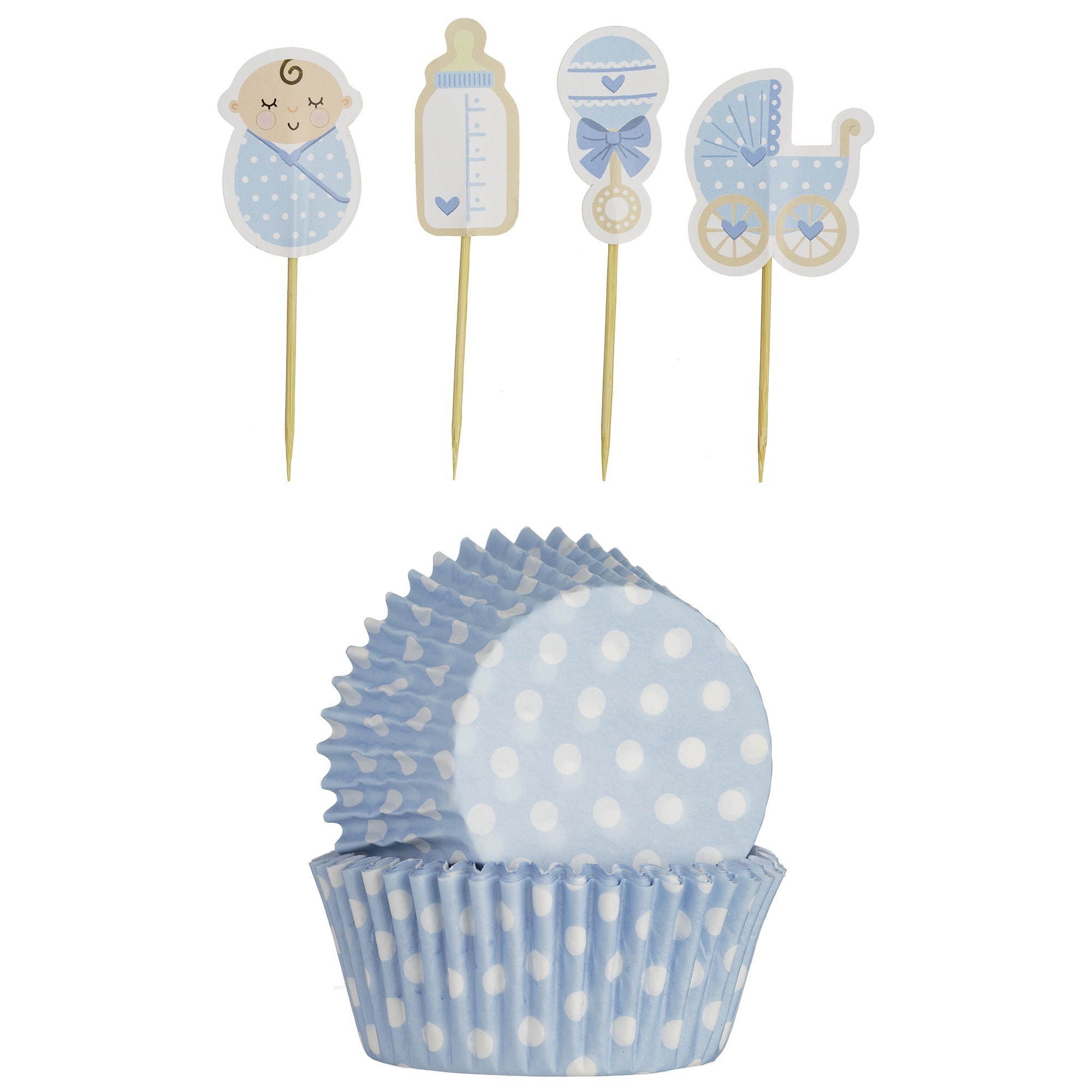 Mason Cash Cupcake Cases & Toppers  Baby Boy
