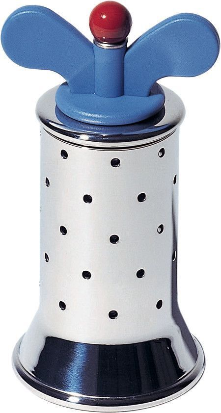 Alessi Graves Pepper Mill Blue & Red