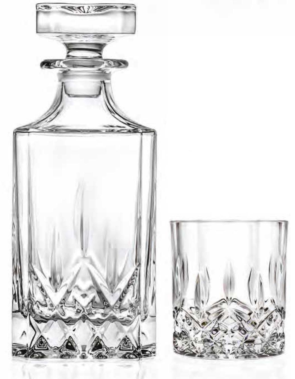 Opera Square Whiskey Decanter & 6 Glasses