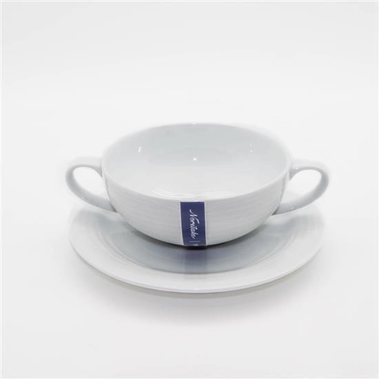 Noritake Arctic White Soup Cup&Saucer 240ml