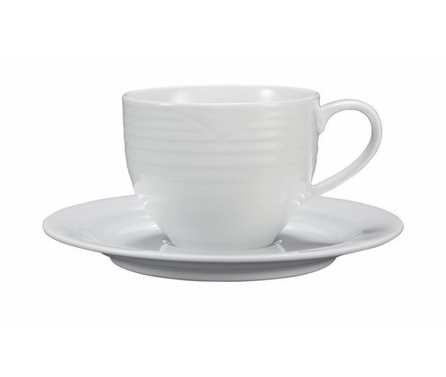 Noritake Arctic White Tea Cup & Saucer