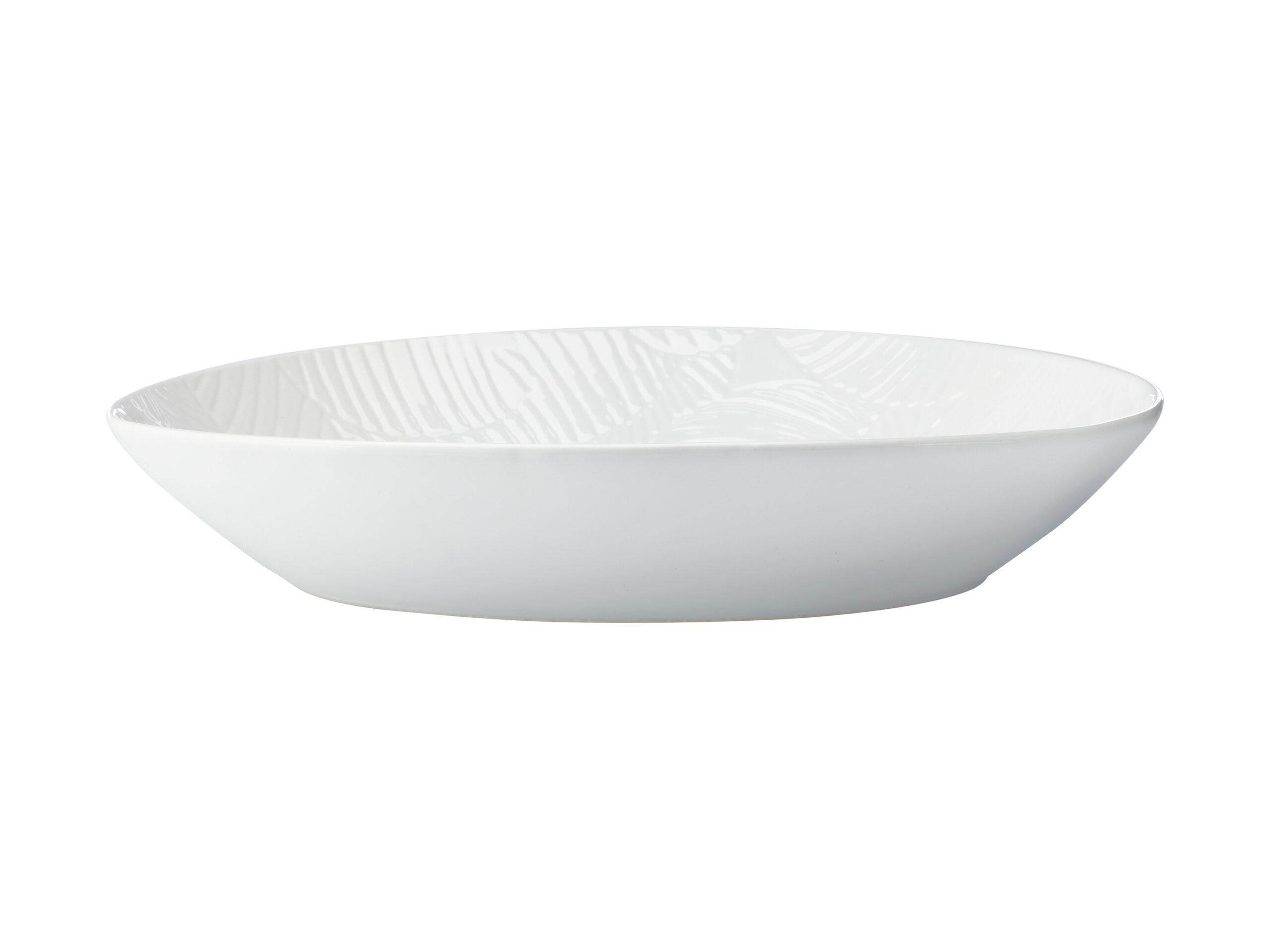 Maxwell Williams Panama Oval Bowl White 32x23cm