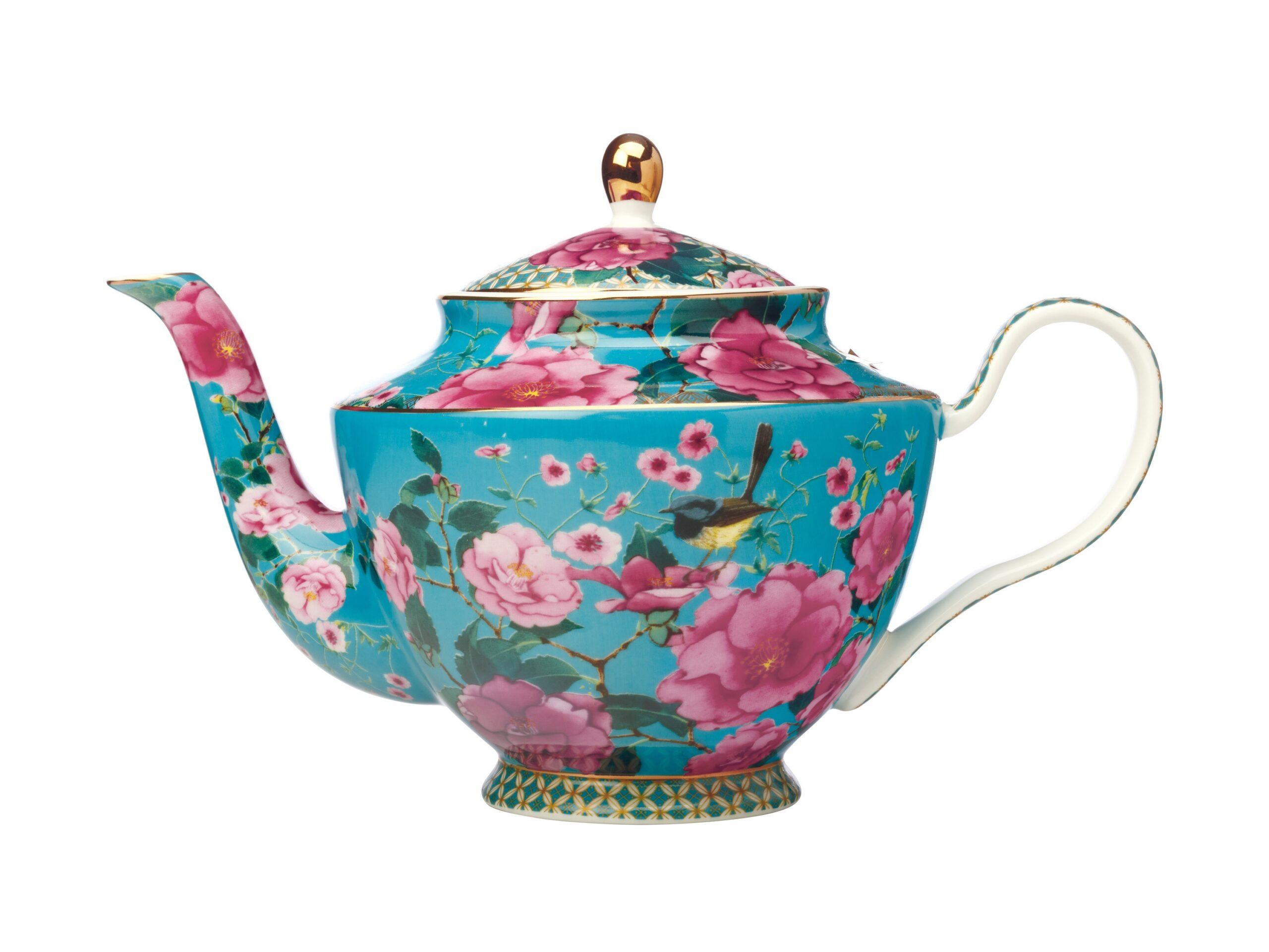 Maxwell Williams T&C's Silk Road Tea Pot Aqua 1L