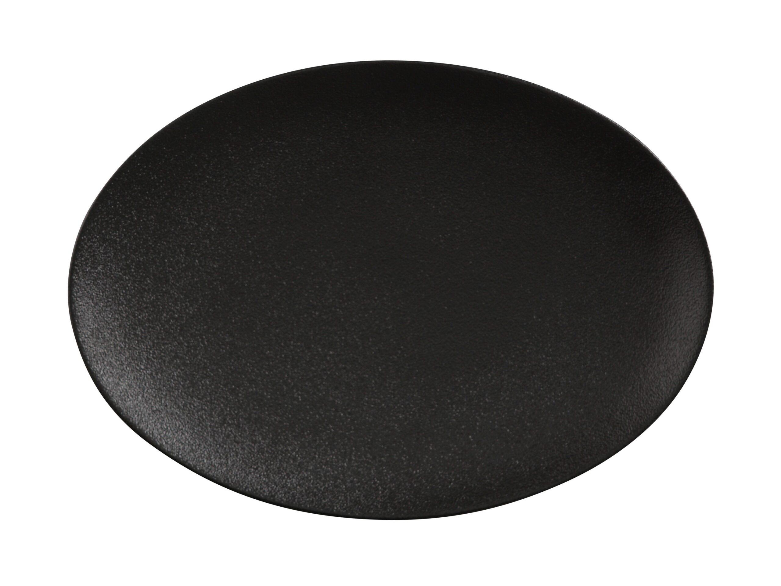 Maxwell Williams Caviar Oval Platter Black