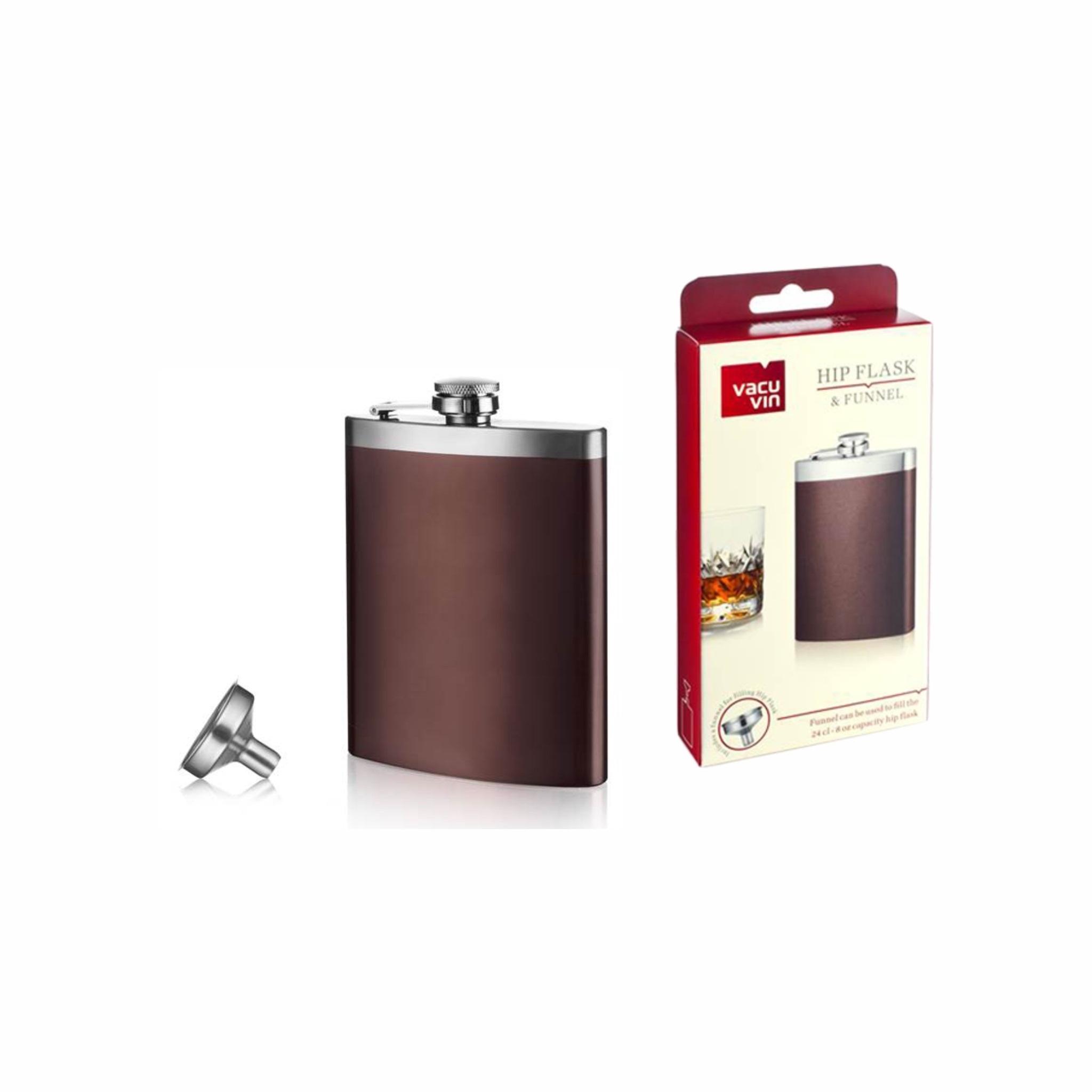 Vacu Vin Hip Flask & Funnel 240ml