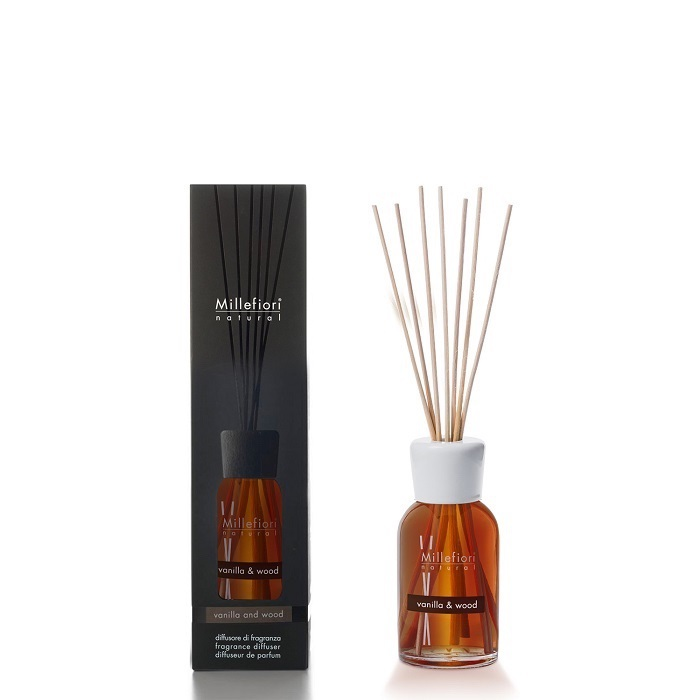 Millefiori Diffuser Reeds Vanilla & Wood 100ml