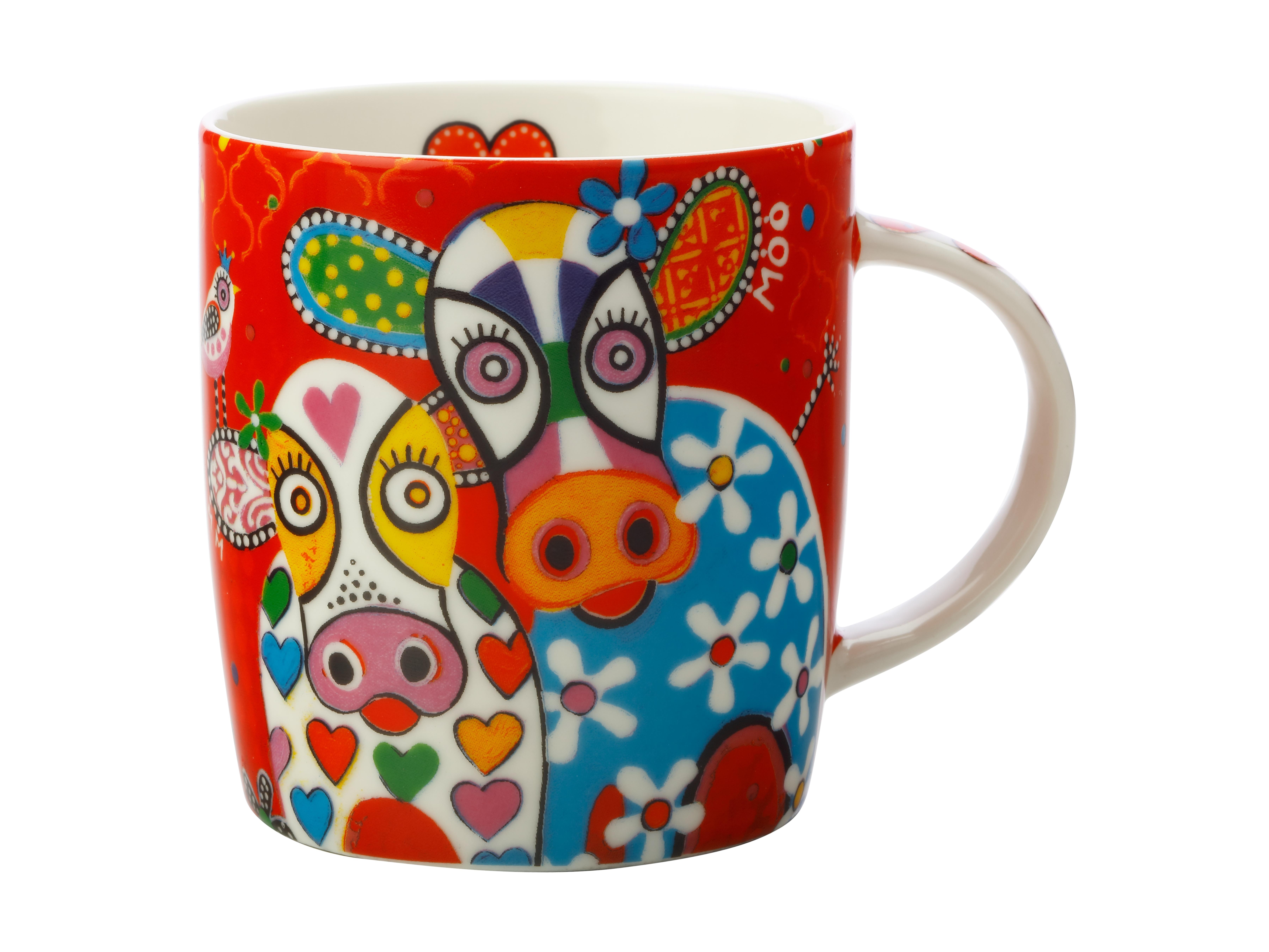 Maxwell Williams Love Hearts Mug 370ml Happy Moo