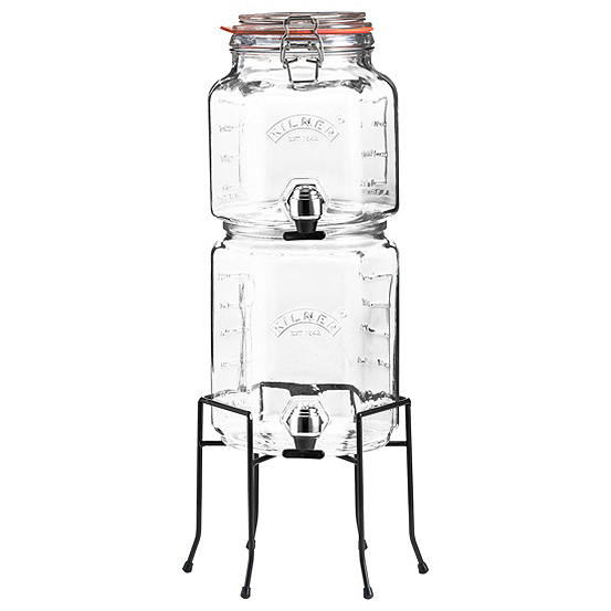 Kilner Stackable Jar Set 2.1Lwith Taps & Stand