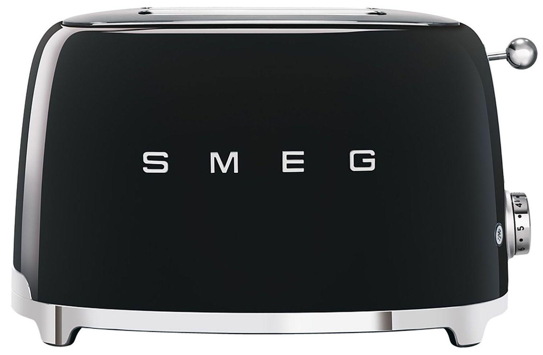 Smeg Retro Toaster 2 Slice Glossy Black