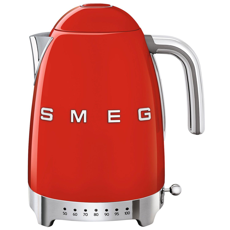 Smeg Retro Kettle Variable Temprature Fiery Red