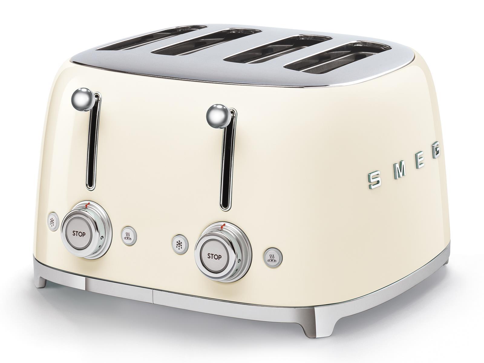 Smeg Retro Toaster Square 4 Slice Vintage Cream