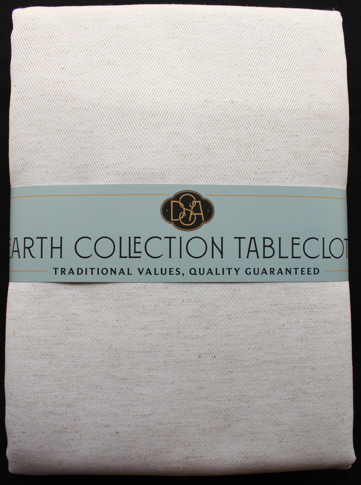 Tablecloth Earth Collection Heringbone 180x270
