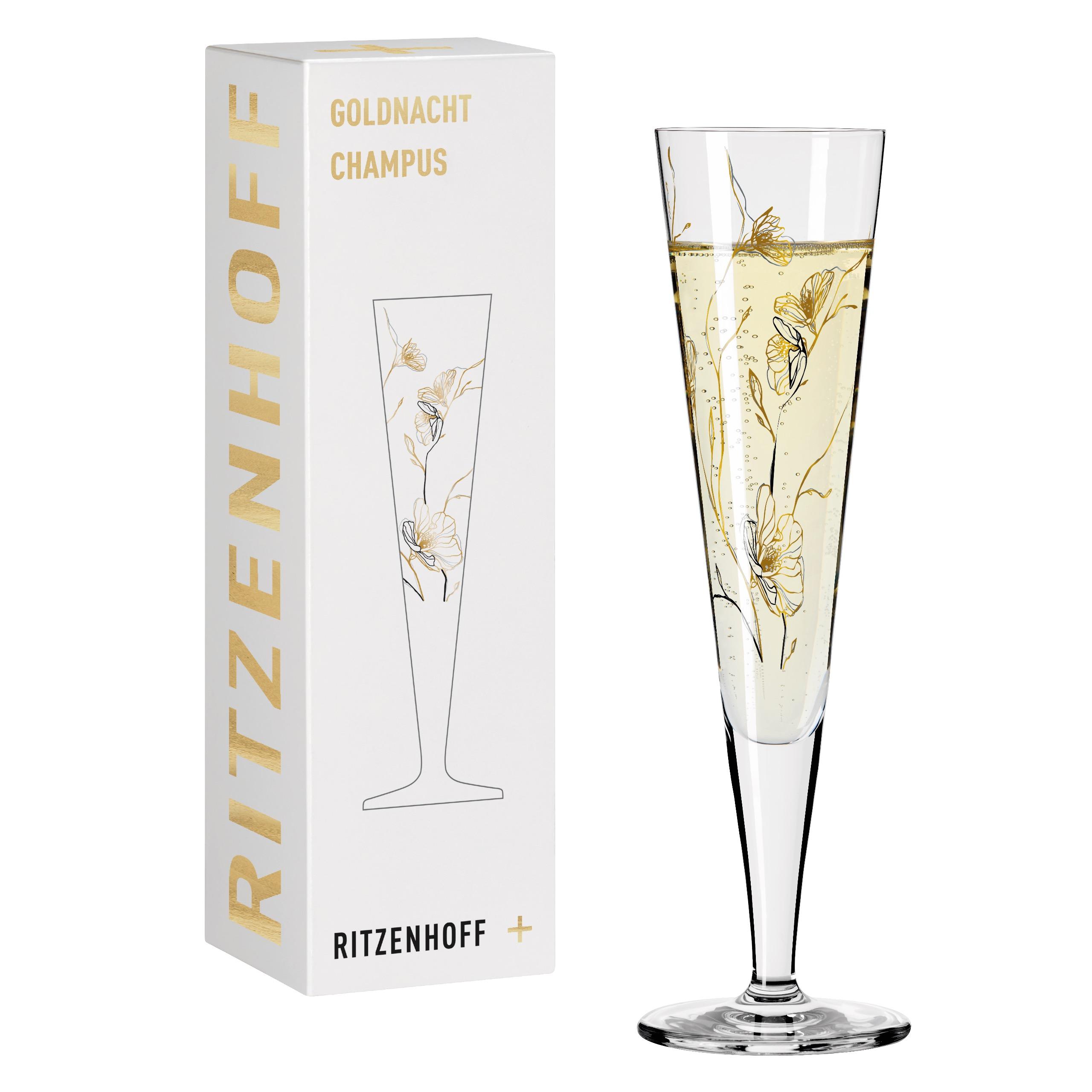 Ritzenhoff Goldnight Champagne Glass Benzoni