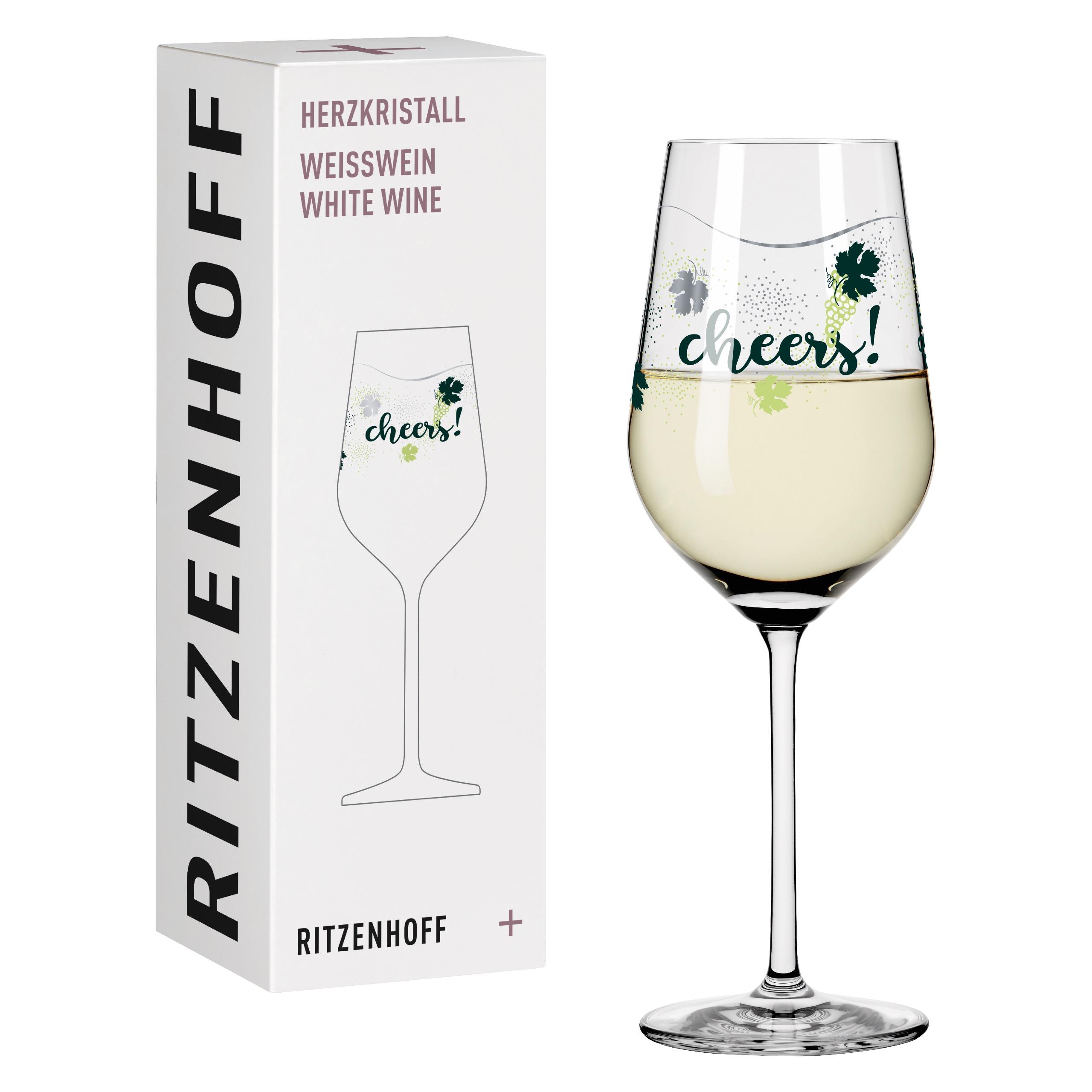 Ritzenhoff Crystal Heart White Wine Glass Kuhn