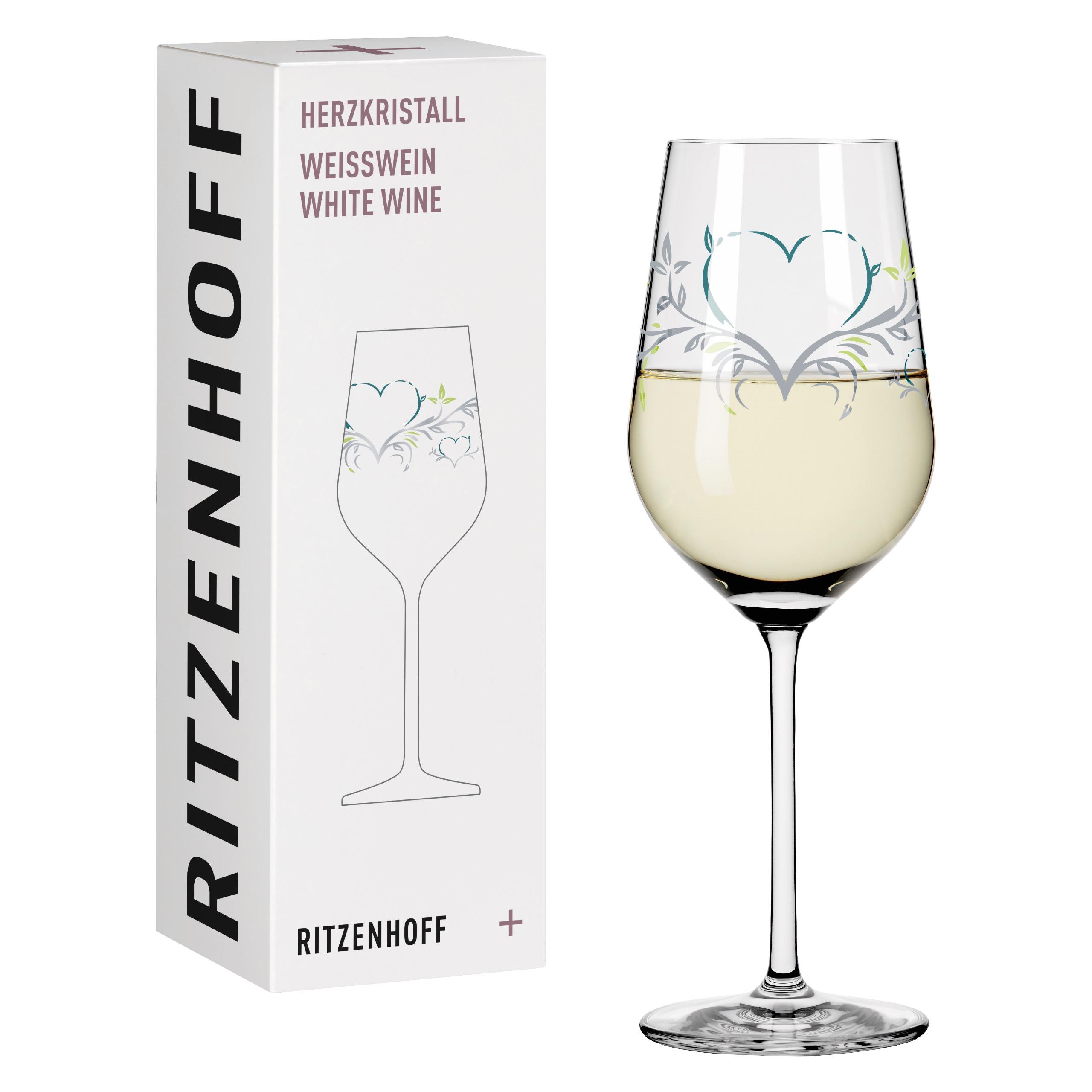 Ritzenhoff Crystal Heart White Wine Glass Weis