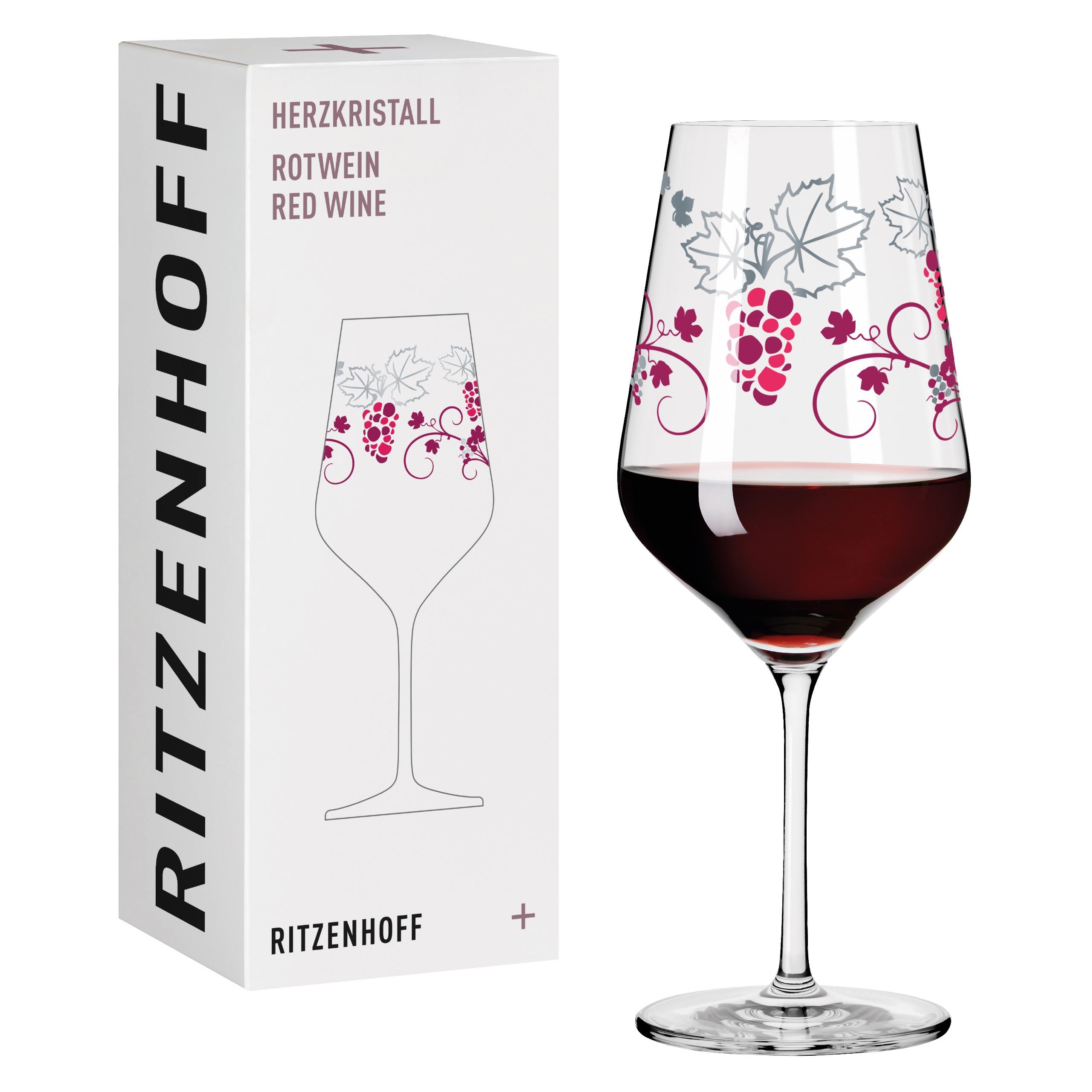 Ritzenhoff Crystal Heart Red Wine Glass Rotwei