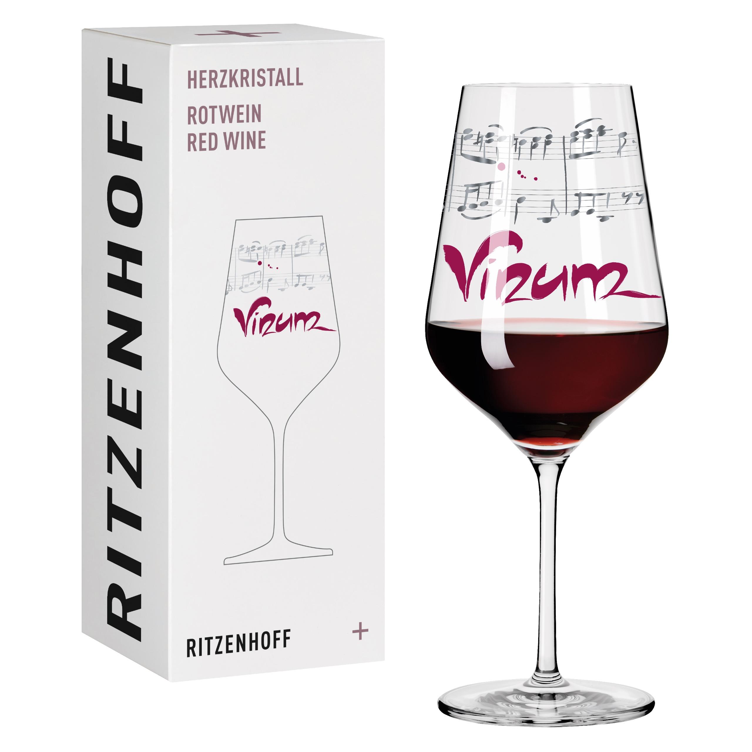 Ritzenhoff Crystal Heart Red Wine Glass Wurm