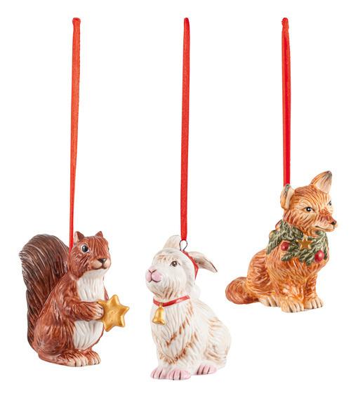 Nostalgic Ornaments Forest Animals Set 3pce